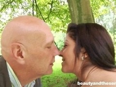 Teen Vivien 69ing an old dude in park
