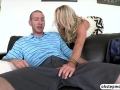 Teen Valentina bf surprises the big cock for a threesome sex with Simone