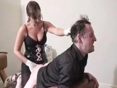 mistress fucks hard guy