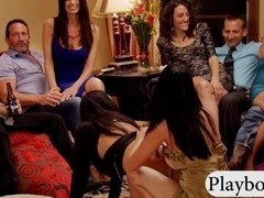 Bunch of mature swingers playing sex game and fucking