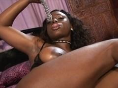 RawVidz Video: Ebony bitch gets ganbanged