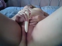 Vibrating dildo in the pussy