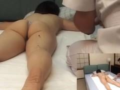 Lovely Asian relaxes in voyeur erotic massage video