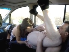 Whore gets Paid for CarSEX 1
