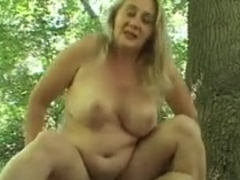 Old Woman Gets Fucked Outside