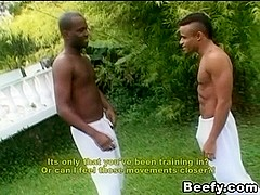 Muscle Beefy Gay Outdoor Anal Fucking