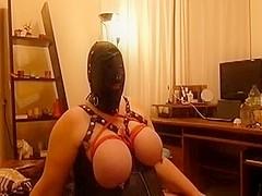 Latex whore giving me a hot blowjob