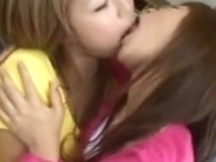 Japanese Lesbo Giving A Kiss compilation
