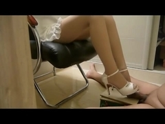 Chinese footjob and shoejob