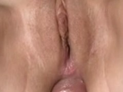 Breasty non-professional girlfriend anal act with jizz flow
