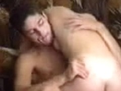 Young horny Romanian couple having sex on the floor