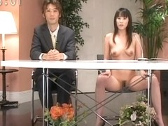 Great public flash with tantalizing woman having incredible blast