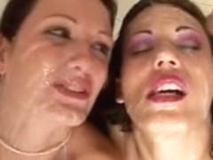 2 naughty bukkake whores