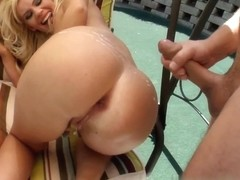Beatrix gets her ass fucked and covered in a big load of hot sperm.