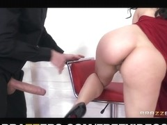 Curvy tango dancer seduces a married boy-friend during their lesson