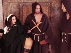 Latina Nun Threesome