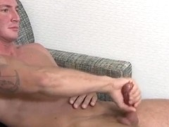 Ripped soldier blows load