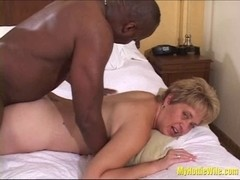 Tracy Licks.....Receives a SLOPPY INTERRACIAL SPERM PIE!!