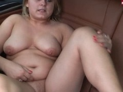 Overweight German Non-Professional Sandra fucking her high heels