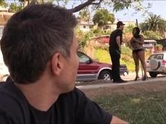 Two nasty white dudes tag teamed black girl Monique Symone