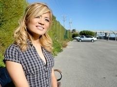 Hispanic Kassandra fucking in public in Spain