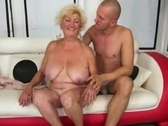 Hawt Breasty Curvy Grannt Gangbanged On Daybed