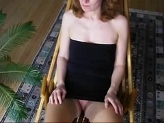 Masturbation and spunk fountain on firm titty angel.