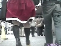 Real schoolgirls get their Asian upskirts shot on the camera CHADV-004