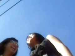 Upskirt voyeur films young and tight asses while walking in the street.