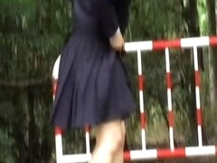 Japan girl appears to be out of her skirt
