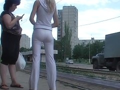 Marvelous arse in white