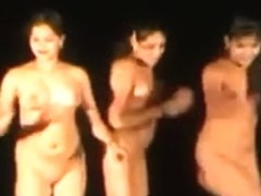 Indian Cuties Dancing In Nature's Garb in Public