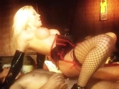 Two blonde sluts are having a great fuck time with their horny partners, at the same room