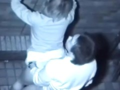 Asian couple has a quickie in the alley