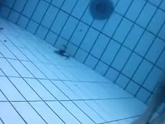 Fantastic asses underwater at a nudist pool