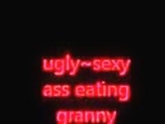 Granny eats ass