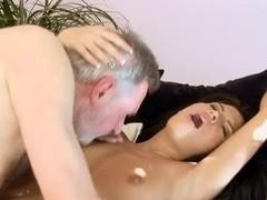 Hot ass babe Amabella pleasures filthy grandpa