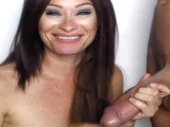 Hot MILF Blowing BIG Hard Boner
