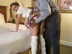 Amazing amateur geeky, cuckold, oral sex movie