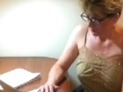 Mother I'd Like To Fuck audition employee with a blow job