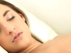 sofa masturbation with glass vibrator