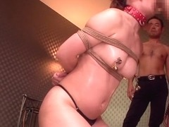 Exotic Japanese chick in Amazing BDSM, Amateur JAV clip