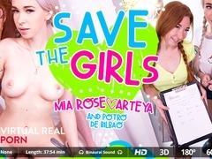 Arteya  Mia Rose  Potro de Bilbao in Save the girls - VirtualRealPorn