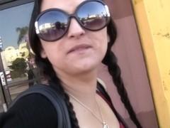 My girlfriend amateur exhibitionism in the public places