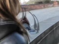 Hot ass slutty Kristene gets filmed outdoor in pov