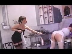 Lesbo Group Cane And Spank
