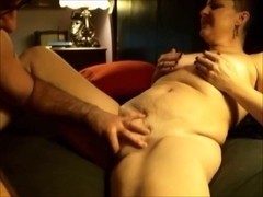 He Jerks that Clit She Pinches those Nipples