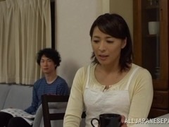 Hisae Yabe mature Japanese nurse sucks cock