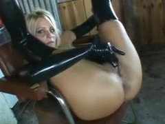 Blonde Anal Slave