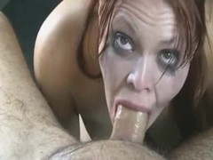 Sloppy deepthroat and facial